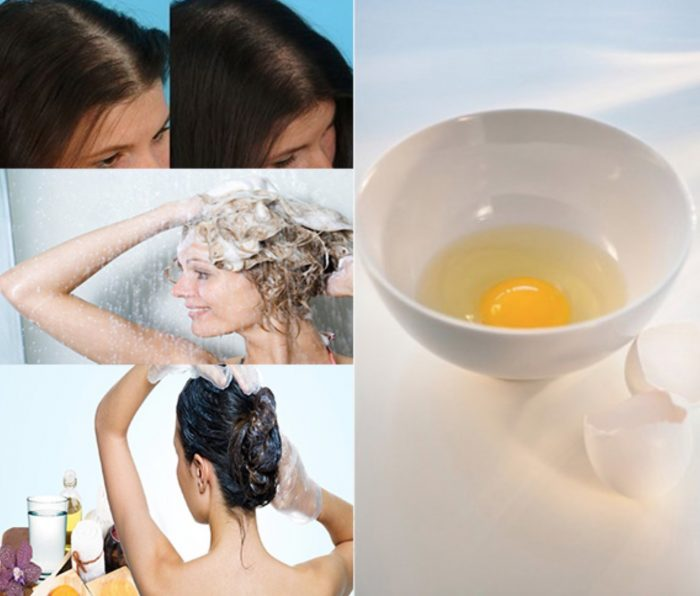 Wash Hair with Egg