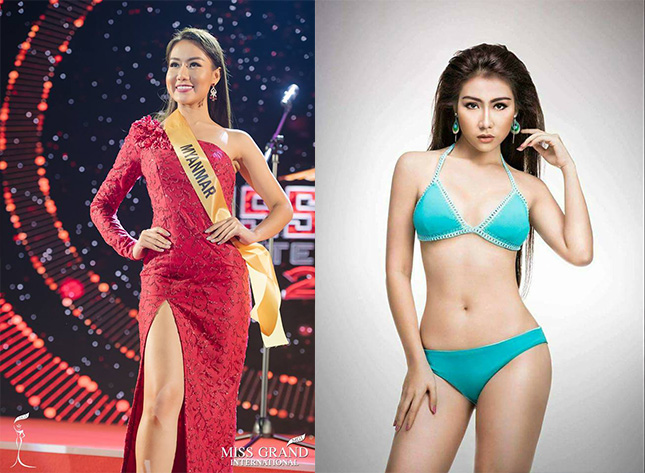 Miss Grand International ၿပိဳင္ပြဲကို ျမန္မာႏိုင္ငံ ကိုယ္စားျပဳ သြားေရာက္ယွဥ္ၿပိဳင္ေနတဲ့ အလွမယ္ ေအးခ်မ္းမိုး