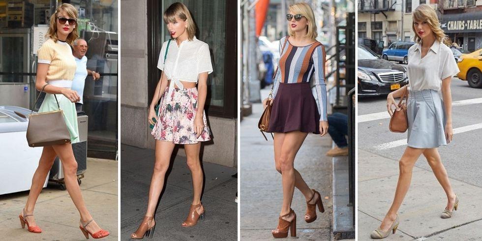 ေပါ့ပါးလြတ္လပ္တဲ့ Taylor Swift ရဲ႕ မီနီ စကတ္တိုတို ဖက္ရွင္မ်ား