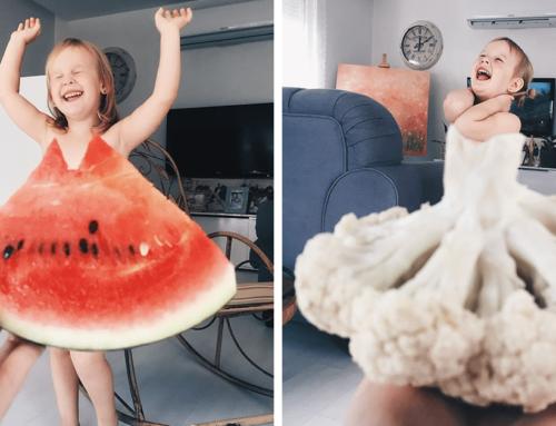 အသီးအရွက်တွေ ၊ ပန်းတွေ နဲ့ အဝတ်အစားပုံစံမျိုး ဓာတ်ပုံရိုက်ရင်း အင်တာနက်မှာ နာမည်ကျော်လာတဲ့ သမီးလေး Stefani