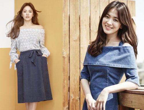မိန်းကလေးချင်းတောင် ကြွေရလောက်တဲ့ Song Hye Kyo ရဲ့ ပုခုံးအကျပုံ ဖက်ရှင်လေးတွေ