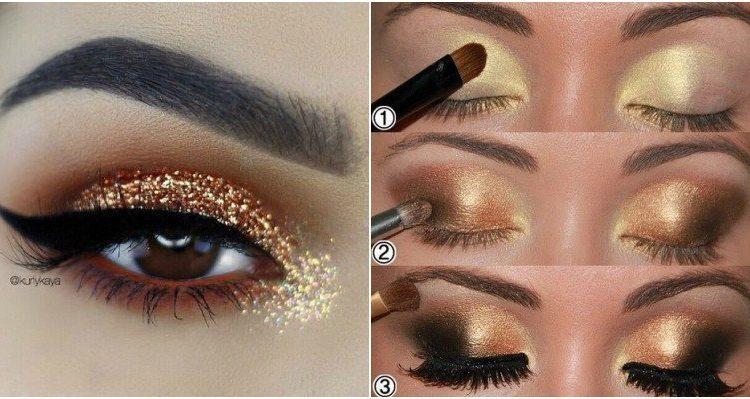 ေရႊေရာင္ Eyeshadow ကို မတူညီတဲ့နည္းလမ္းနဲ႔ ဘယ္လိုေတြသံုးလို႔ရမလဲ