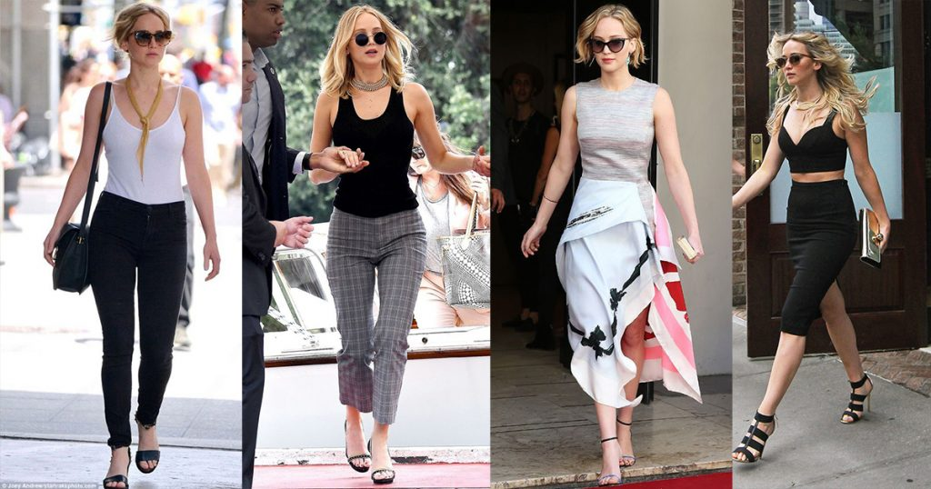 ဆြဲေဆာင္မႈရွိၿပီး ပရိသတ္ေတြခ်စ္ၾကတဲ့ မင္းသမီးေလး Jennifer Lawrence ရဲ႕ ေပါ့ေပါ့ပါးပါး လမ္းေပၚထြက္ဖက္ရွင္မ်ား