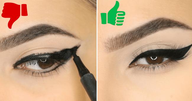 သင္သတိမထားမိတဲ့ Eyeliner နဲ႔ ပတ္သက္တဲ့ အမွားေလးေတြ