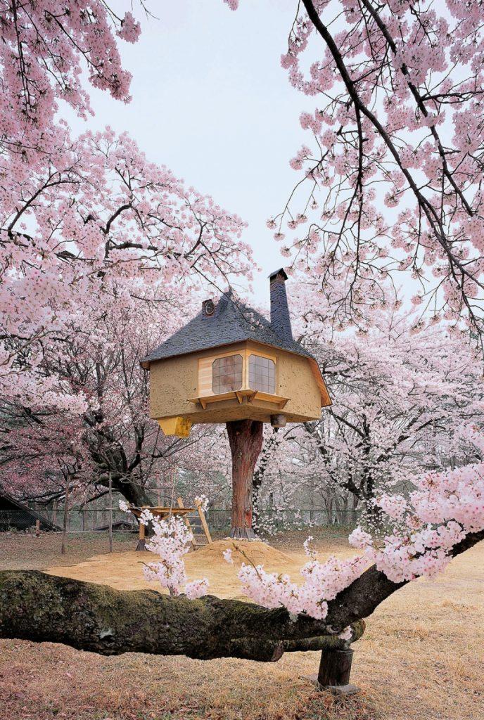 ဂ်ပန္ႏိုင္ငံမွာရွိတဲ့ သစ္ပင္ေပၚက အိမ္ကေလး သစ္ပင္ေပၚကအိမ္ကေလးကို Terunobu Fujimori က ခ်ယ္ရီ ပန္းၿခံထဲမွာ တည္ေဆာက္ထားတာပါ။ အရမ္းကို လွပၿပီး ဓာတ္ပံုရိုုက္လို႔ေကာင္းမယ့္ အိမ္ကေလးပါ။