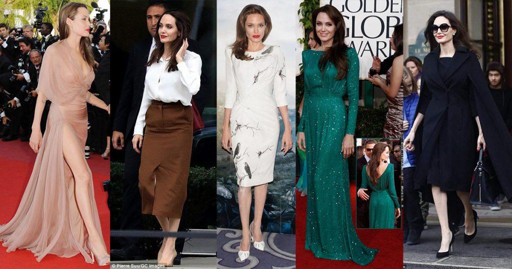 လွပေက်ာ့ရွင္းလွတဲ့ Angelina Jolie ရဲ႕ ဖက္ရွင္မ်ား