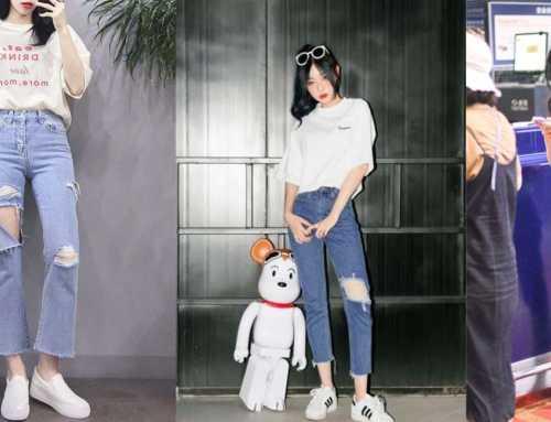 ဘောင်းဘီအပြဲ Ripped Jeans တွေကို သဘောကျတဲ့ပျိုမေတို့အတွက် ဖက်ရှင်များ