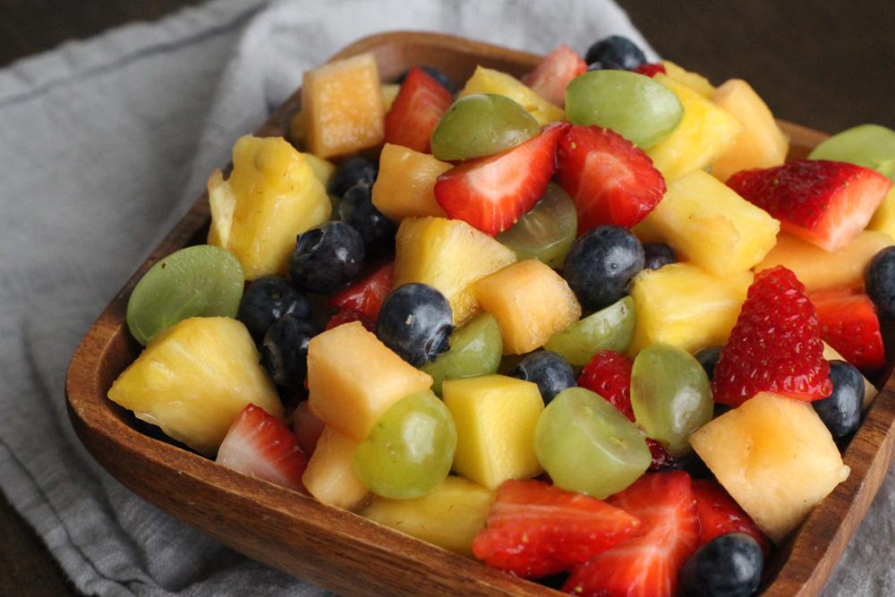 Fruits and berries platter,vegan cuisine