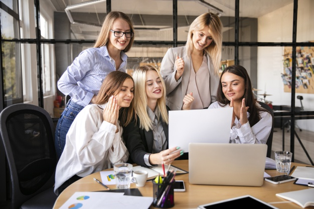 Business women team at office