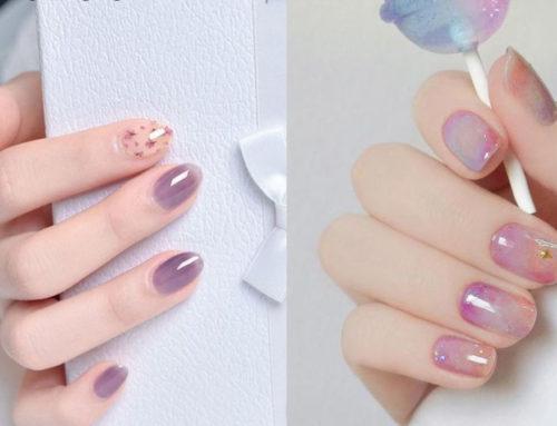 လက်သည်းအကြည်ရောင်ပုံစံလေးတွေ သဘောကျသူတွေအတွက် Nail Design များ