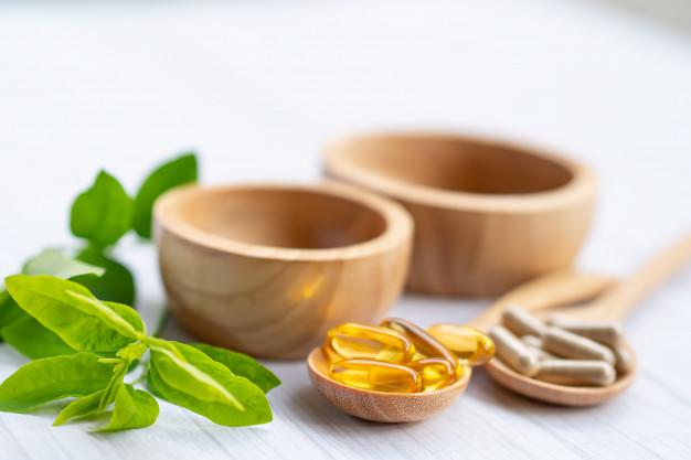 Vitamin e in fat-soluble capsules